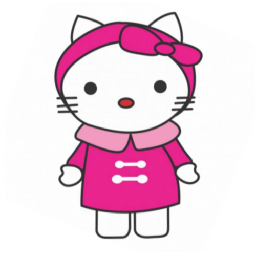 Hello Kitty DIY decals stickers version 15